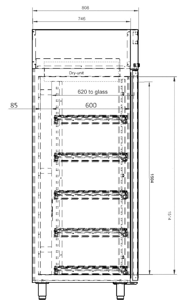 Dry Cabinet XSD 701 54 Technical Drawing