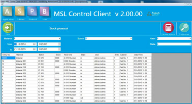 MSL 2.0 software - component monitoring