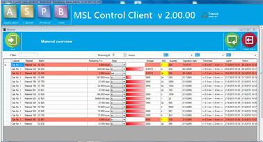 Dry Tower MSL 2.0 software - component logistics