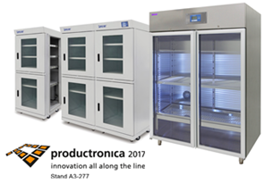 Dry cabinets and dry storage solutions at Productronica