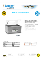 SDV 26 vacuum machine datasheet