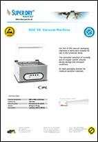 SDV 36 vacuum machine datasheet