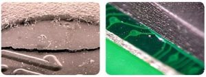 Component micro-cracking resulting from the absorption and rapid release of moisture