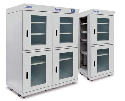 Modular desiccant cabinets from Super Dry Totech