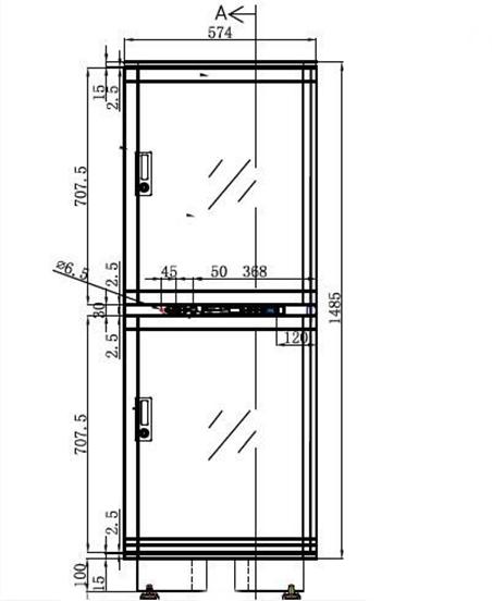 Dry storage cabinet ESDA 402-21
