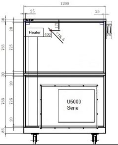 Dry cabinet HSD 1104 technical drawings