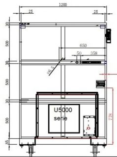 Dry cabinet HSD 1106-52 technical drawings