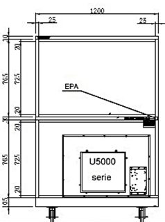 HSDF 1704-52 feeder cabinet technical drawings
