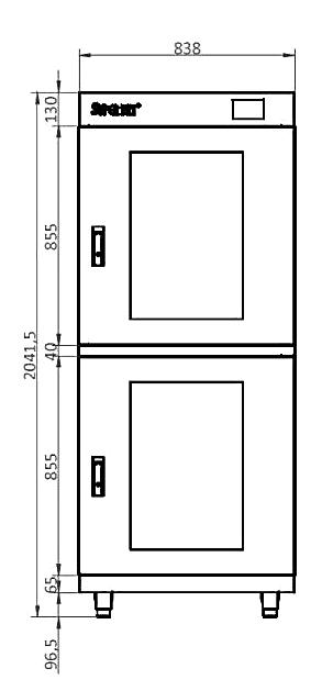 Modular MSD series technical drawing