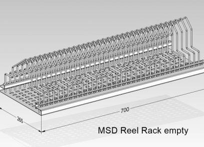 MSD reel rack empty
