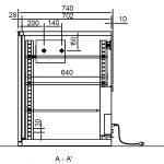 Dry storage cabinet SD 502-21 technical drawings