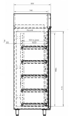 Dry cabinet XSD 1402-54 technical drawings