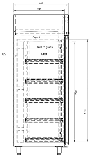 Dry cabinet XSDB 701-54 Technical Drawing