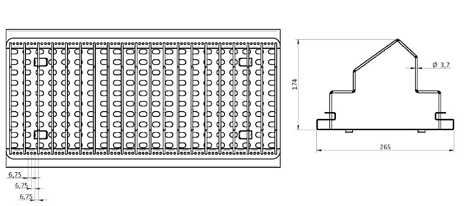 XSDR reel racks dimensions